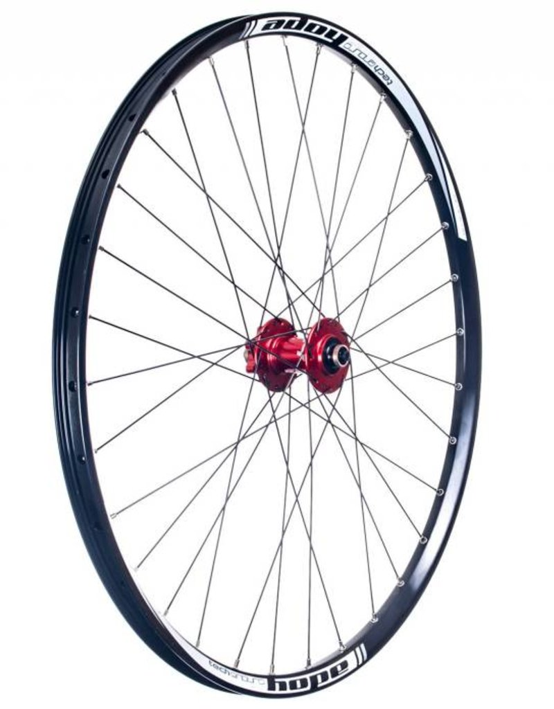 Hope Pro 4 Enduro Wheel, Front, Red, 15mm
