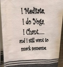 Wild Hare Designs I Meditate Towel