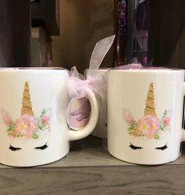 Unicorn Mug Set with Pink Soft Socks