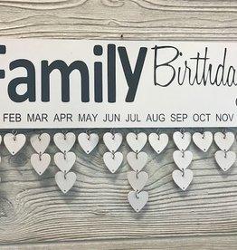 Family Birthday Wood Wall Hanging