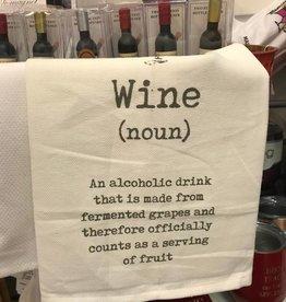 Mudpie Wine Definition Wine Towel