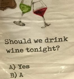 Mudpie Should You Drink Wine Towel