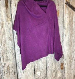 Solid Color Poncho Purple