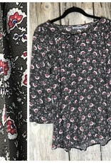 3/4 Sleeve Fall Floral Blouse
