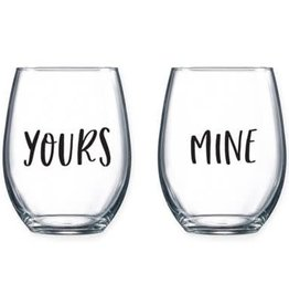 Yours/Mine Stemless Set RBR