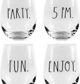 Set of 4 Party Fun Stemless OBR