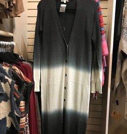 DipDye Long Sweater Cardigan