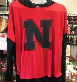 Nebraska Pullover Hoody Logo Red