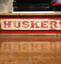 Huskers Distress Long Sign