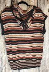 Boxy Hoodie Stripe Sweater