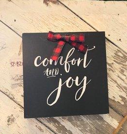 Comfort & Joy Box Sign