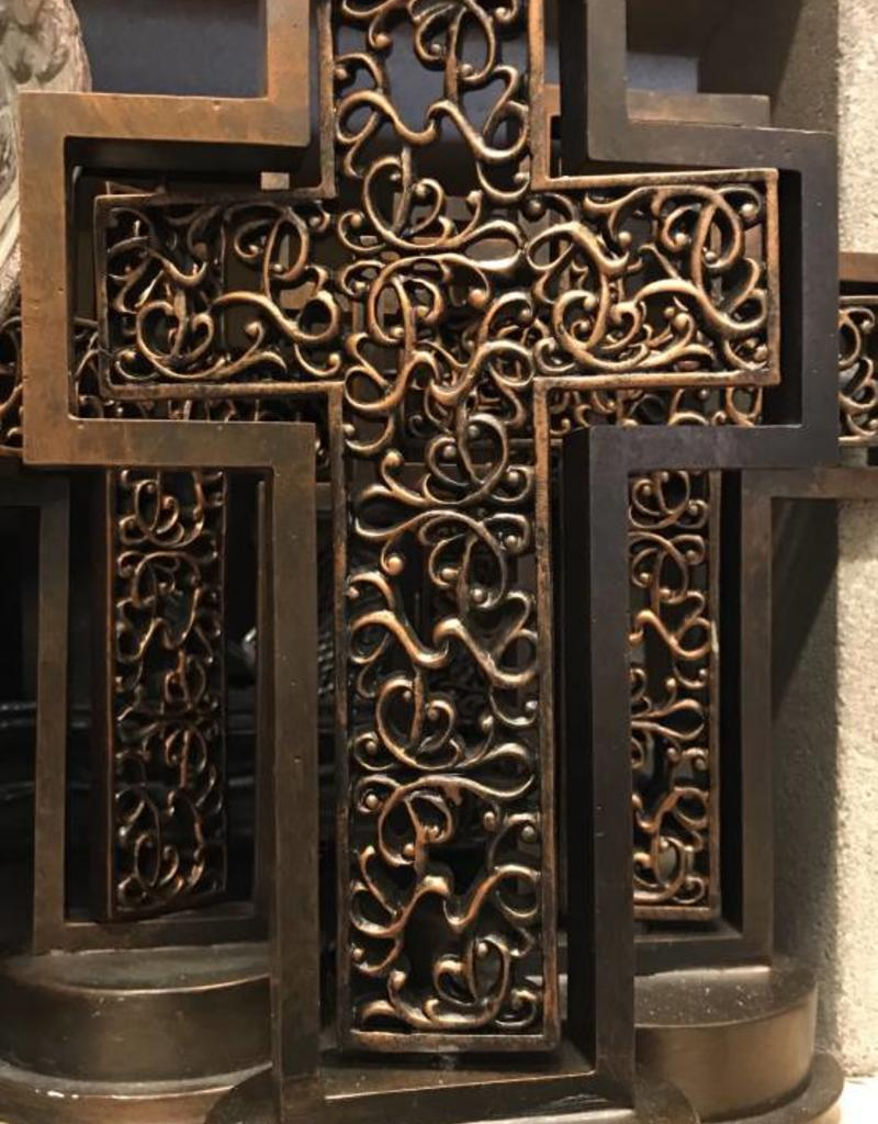 Bronze Rotating Cross 12""