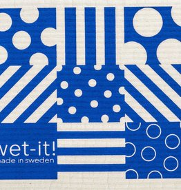 Dots & Stripes Blue Swedish Cloth