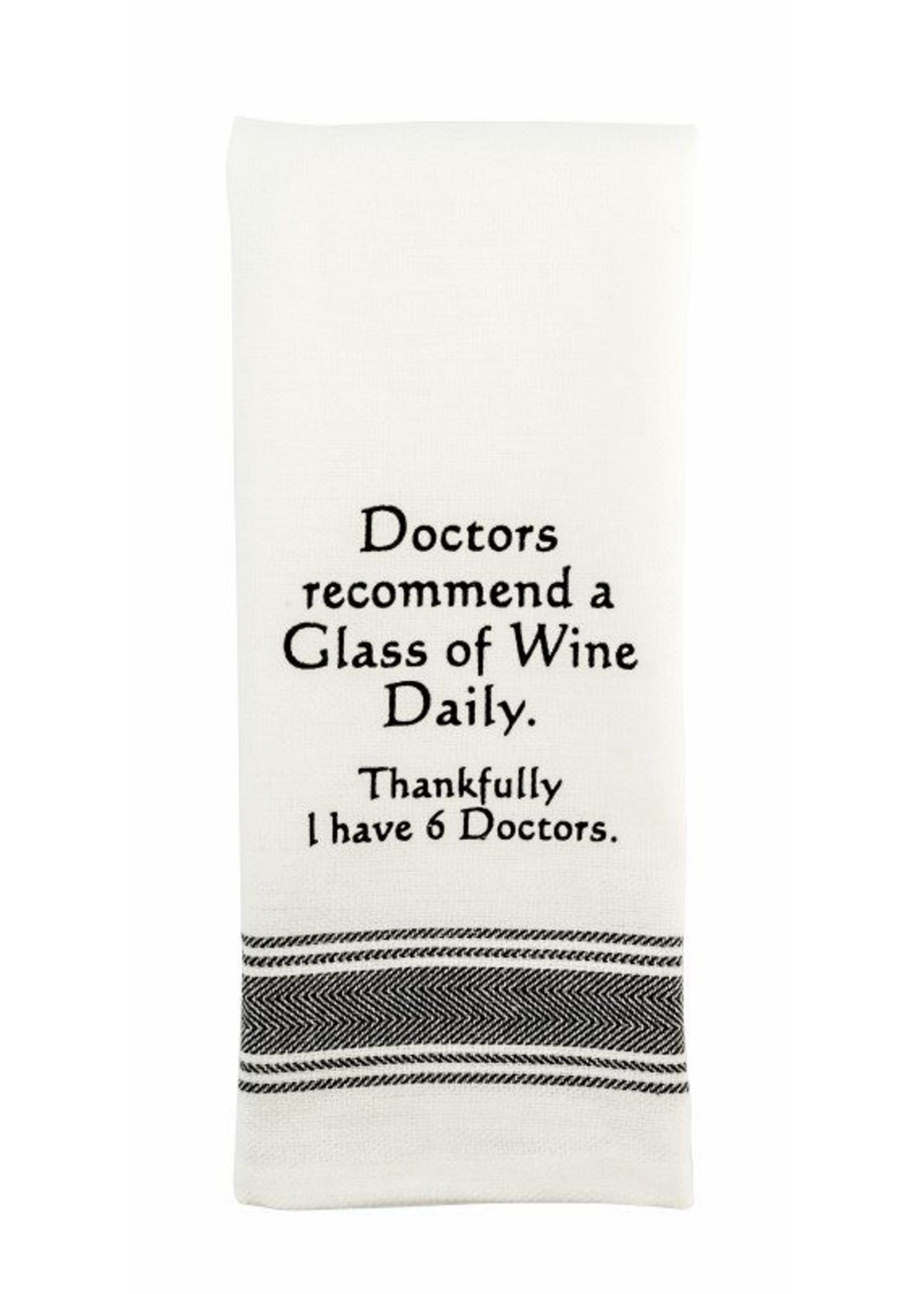 Doctors Recommend Wine Towel