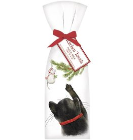 Cat Holiday Retro Bagged Towel
