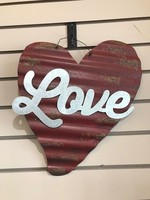 Corrugated Metal Heart Decor