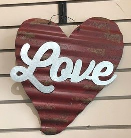 Corrugated Metal Heart Decor