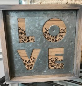 Galvanized Heart Decor