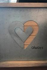 Galvanized Heart Decor