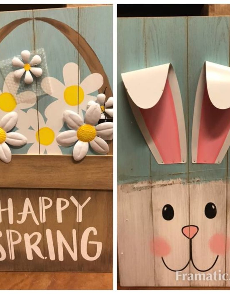 Reversible Sign Happy Easter/Spring