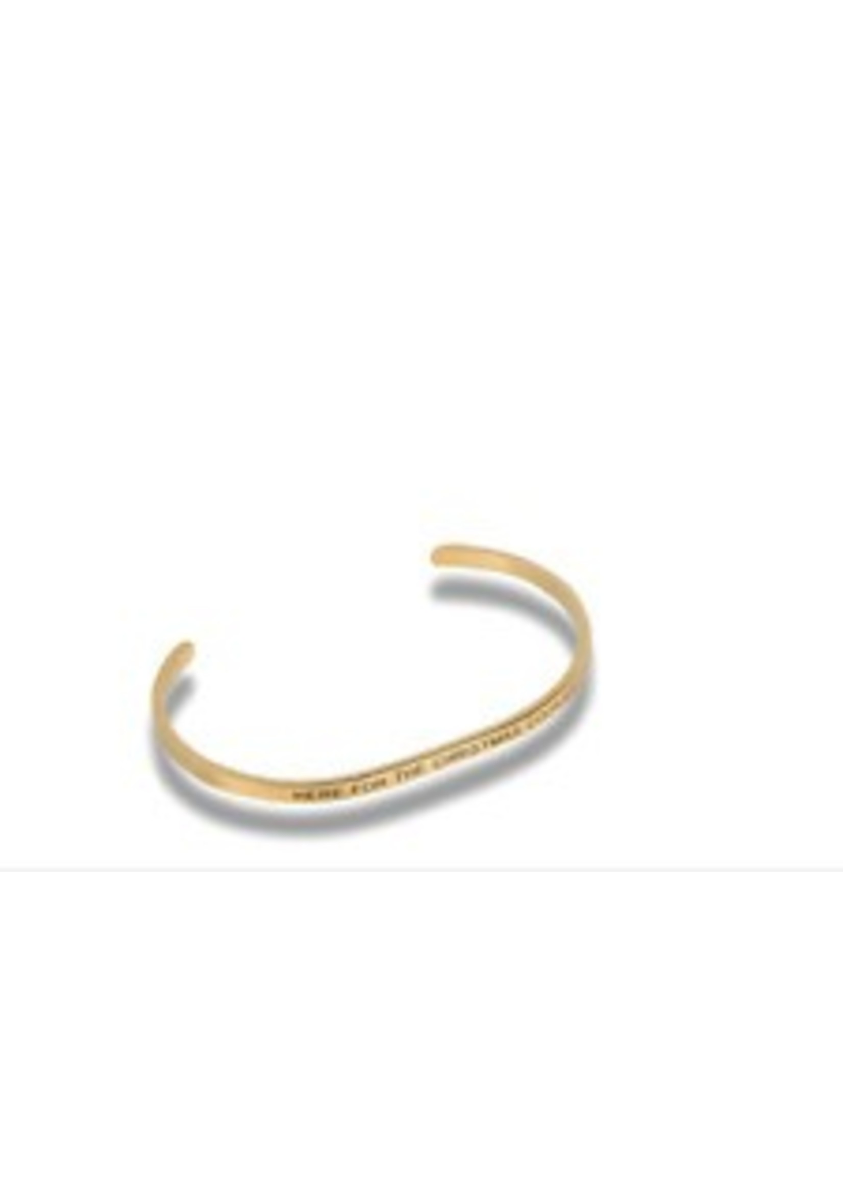 """Embracelets """"Here For The Christmas Cookies"""" Gold Embracelet"""