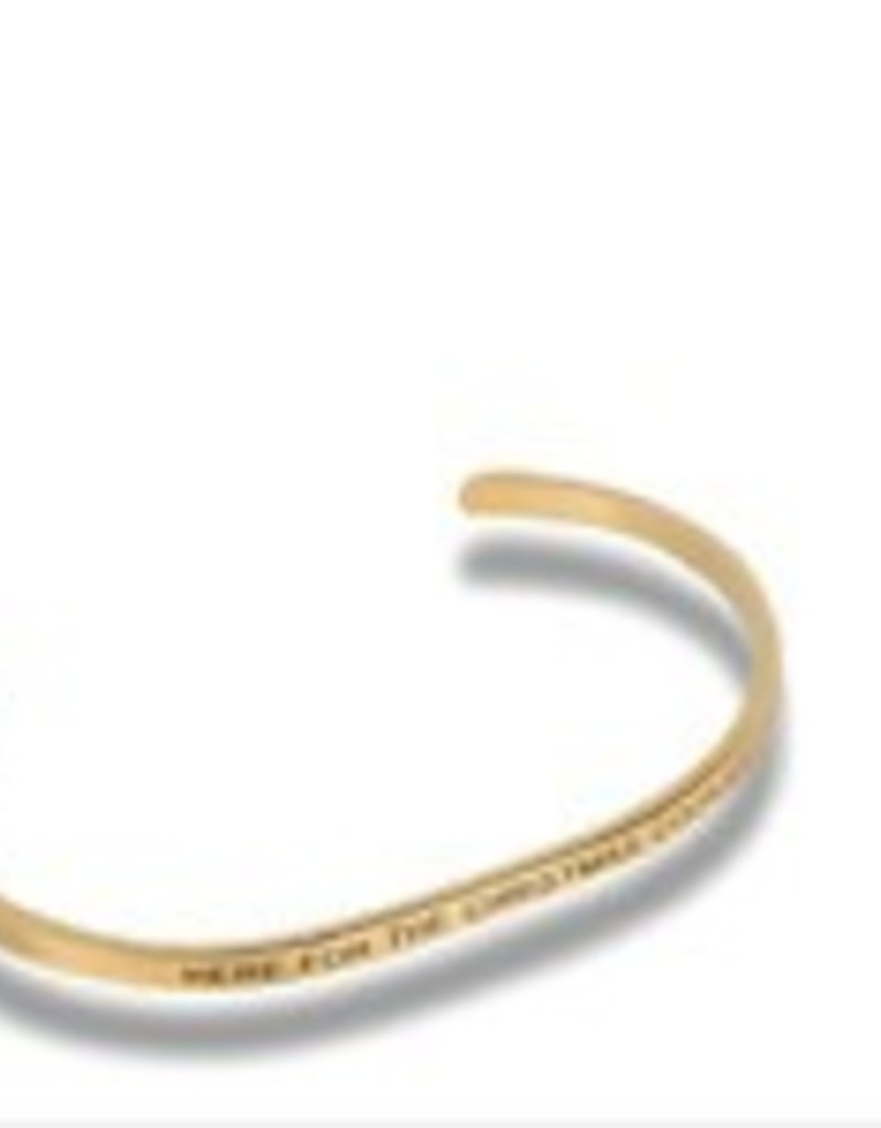 """""""Here For The Christmas Cookies"""" Gold Embracelet"""