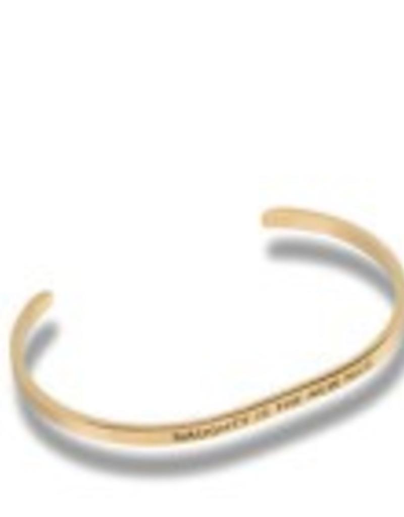 """""""Naughty Is The New Nice"""" Gold Embracelet"""