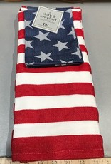 Stars & Stripes Dishtowel and Dishcloth Set of 2