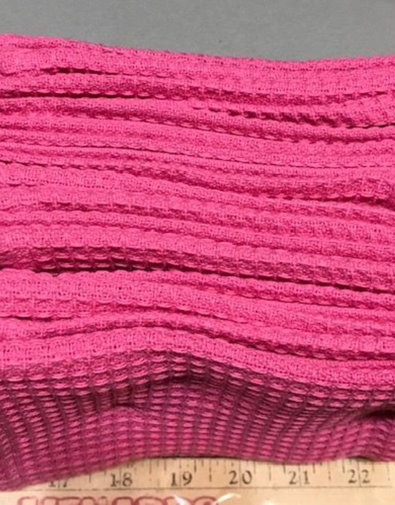 Pink Pout Waffle Dishcloth Set of 2
