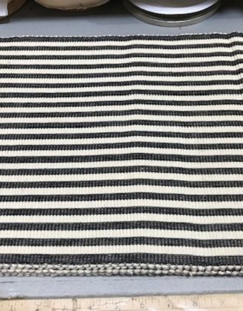 Black Petite Stripe Placemat
