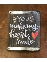 My Heart Smile Block Sign