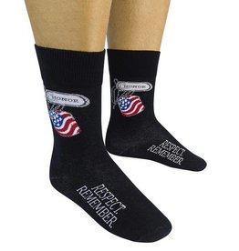 Honor. Respect. Remember. Socks
