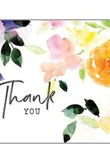 Thank you Purple Green Leaves Card