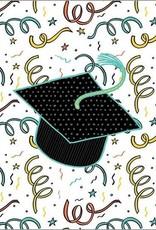Graduation Confetti/Grad Hat Card