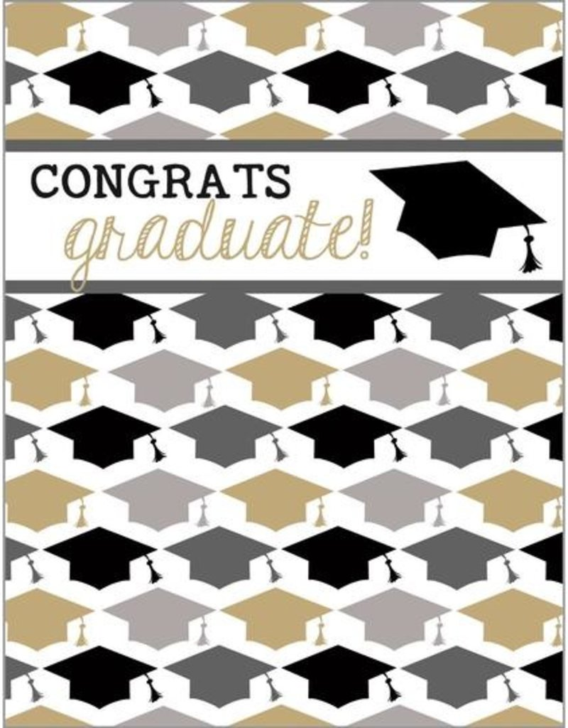 Graduation Gold Hats Card
