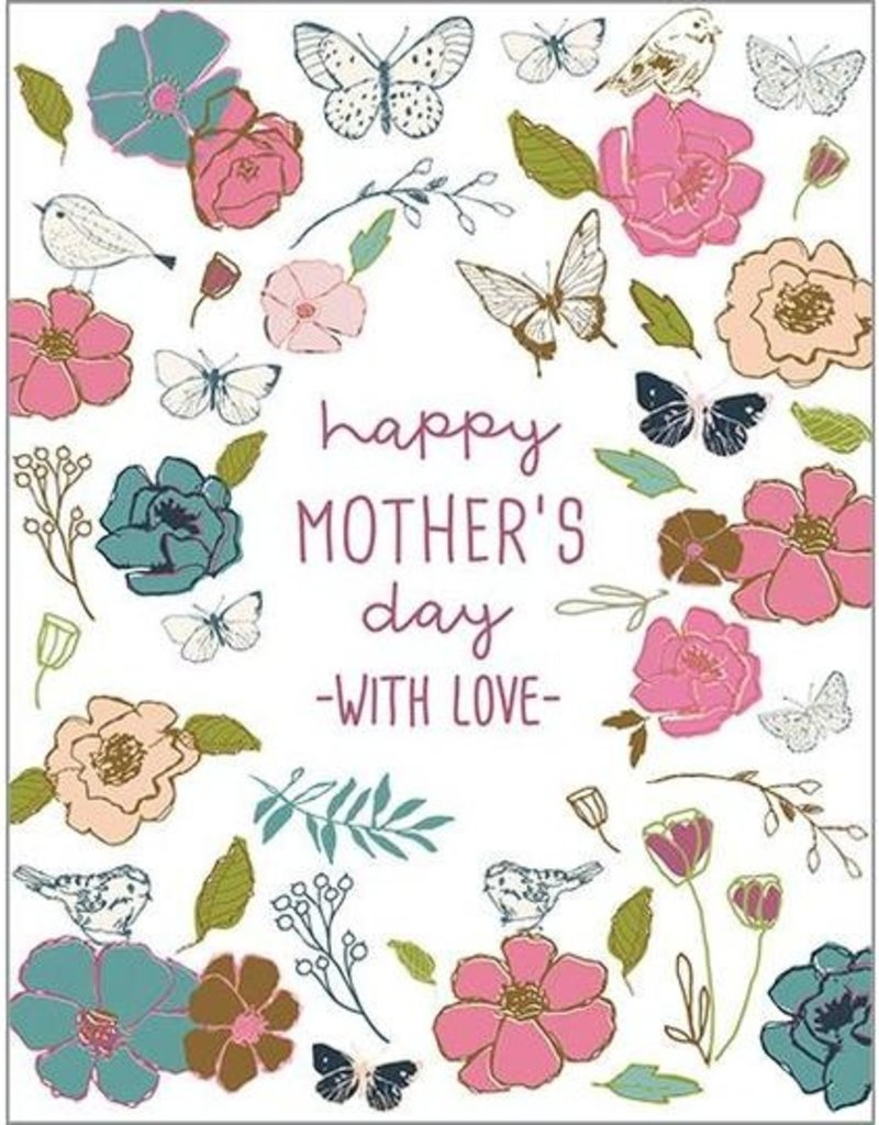 Mother's Day Wings & Flowers Card