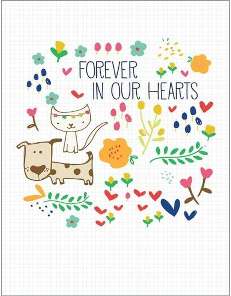 Sympathy Pet Forever In Hearts Card