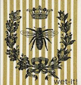 French Bee Black & Gold Swedish Cloth