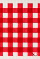 Gingham Red Swedish Cloth