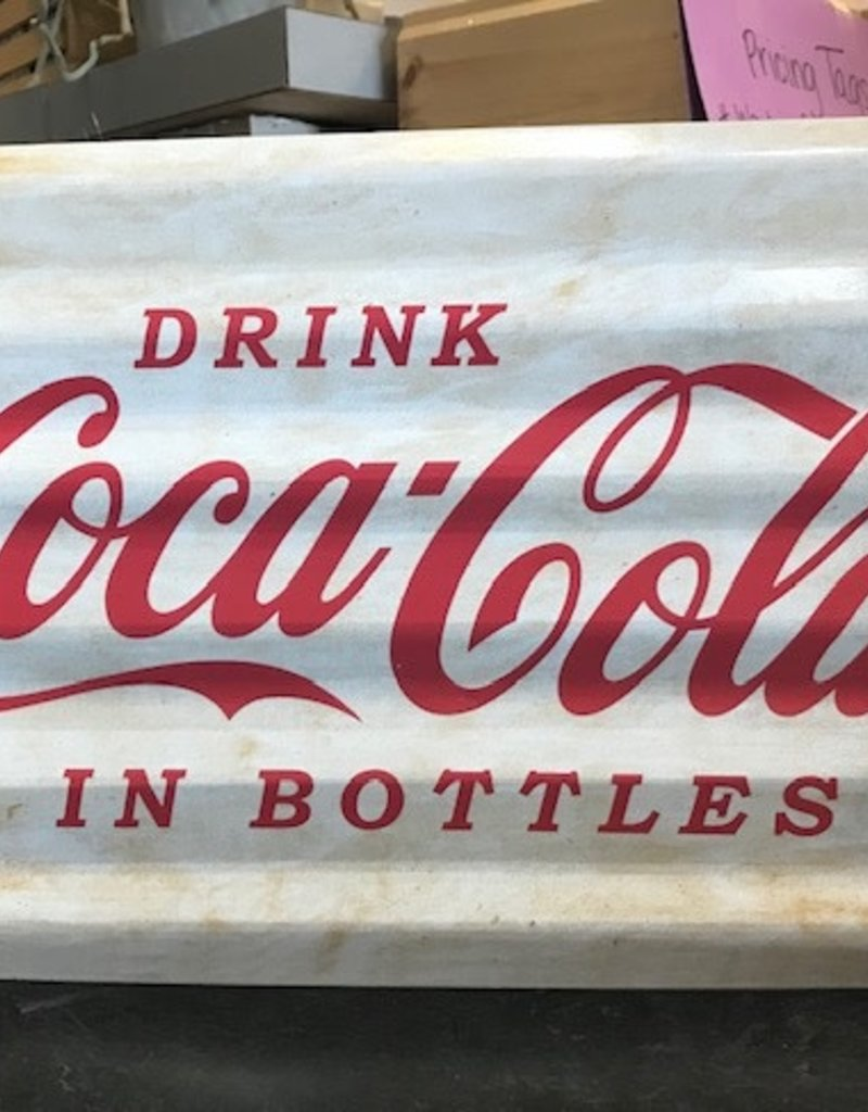 Tin Drink Coca Cola Wall Sign