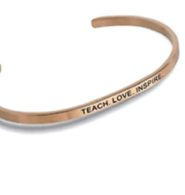 """Teach. Love. Inspire."" Embracelet Rose Gold"