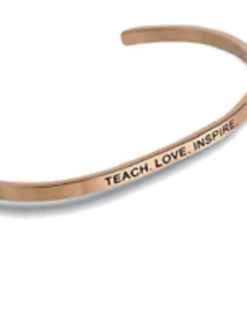 """Teach. Love. Inspire."" Embracelet Rose Gold"