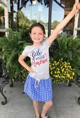 Girls Little Miss America Crew Neck