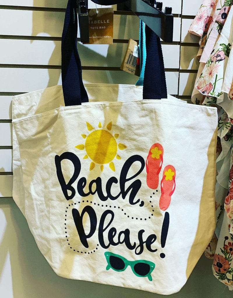 """Beach Please"" tote bag"