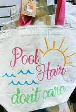 """Pool Hair Don't Care"" Tote Bag"