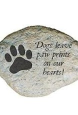 Paw Prints, Oval, Garden Stone