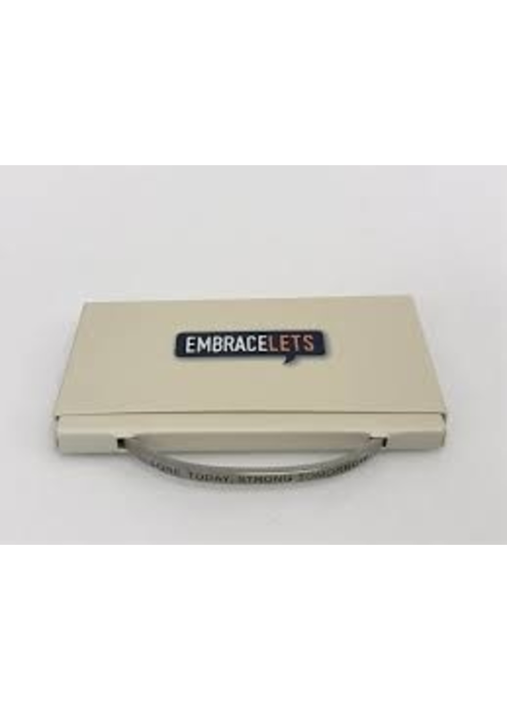 """Embracelets """"Sore Today, Strong Tomorrow"""" Embracelet Silver"""