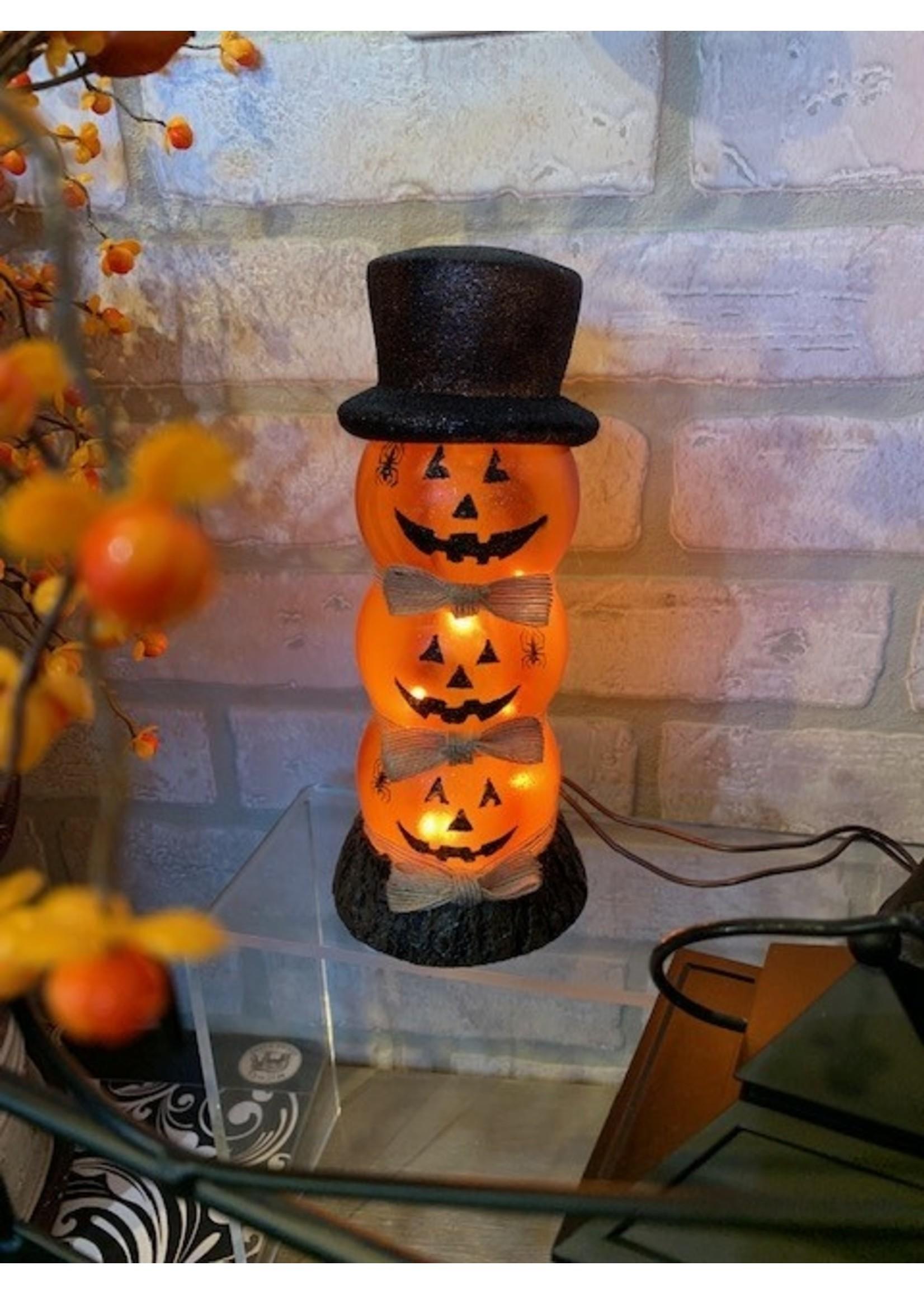 Halloween Small Stacking Pumpkins 4x4x9