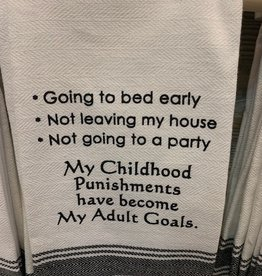 Going To Bed Early Towel