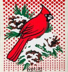Winter Cardinal Swedish Cloth